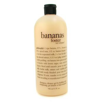 Гель для душа и ванн, шампунь Banana Foster Ice Cream Shampoo, Shower Gel & Bubble Bath 946мл./32oz