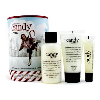Набор Candy Cane Lane: гель для душа 120мл + лосьон для тела 56гр + блеск для губ 14гр 3шт.