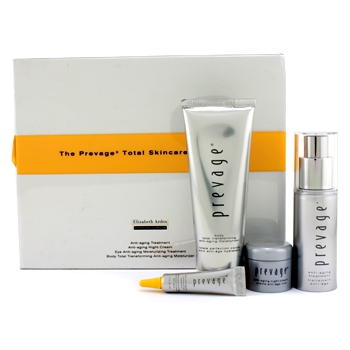 The Prevage Total Skincare Collection: Moisturizer 75ml + Anti-Age Treatment 30ml + Night Cream 7g +