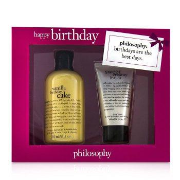Pleasing Philosophy Happy Birthday 2 Piece Vanilla Birthday Cake Set Buy To Funny Birthday Cards Online Ioscodamsfinfo