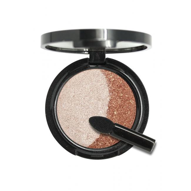 POETEQ Тени для век DUET (бронза+розовый жемчуг) # розовый, серебристый # розовый, серебристый купить косметику от POETEQ - Профессиональная косметика и парфюмерия Cosmostore.ru