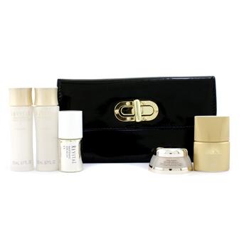 Дорожный набор Shiseido: увлажняющее средство 20мл + лосьон 20мл + сыворотка 10мл + защита от солнца 12мл + восстанавливающий крем 7мл + 1 сумка 5шт.+1bag