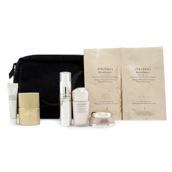 Дорожный набор Shiseido: ночная эмульсия + защита от солнца + корректирующая сыворотка + восстанавливающий крем + крем для глаз + маска для лица + 1 сумка 6шт.+1bag