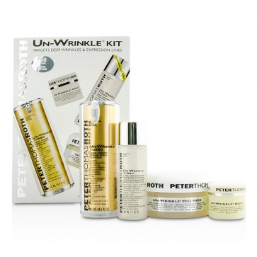 Un-Wrinkle Kit: Peel Pads 20pads + Turbo Face Serum 15ml/0.5oz + Night Cream 8g/0.3oz + Lotion 30ml/1oz(Box Slightly Damaged)