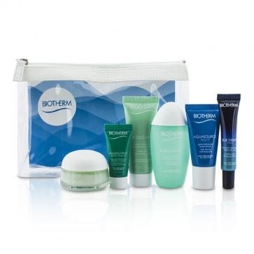 Дорожный Набор: Blue Therapy Сыворотка + Aquasource Крем + Очищающее Средство + Лосьон Тоник + Ночной Гель + Сыворотка + Сумка