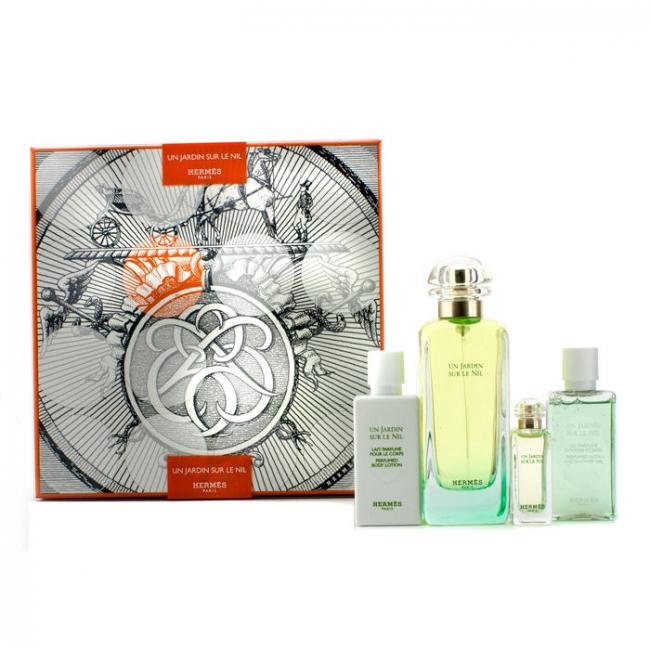 74247048a96 Hermes Un Jardin Sur Le Nil Coffret  Eau De Toilette Spray 100ml 3.3 ...