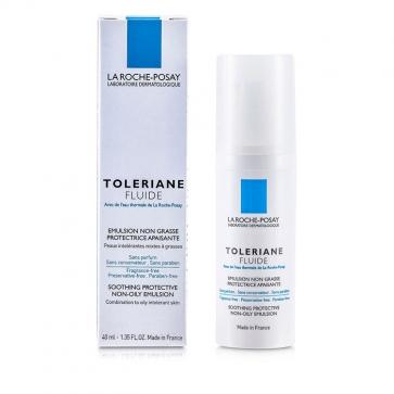 Разглаживающая защитная, обезжиренная эмульсия Toleriane Fluid ( для комбинированной и жирной кожи ) 40мл./1.35oz