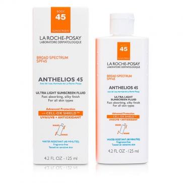 Легкий солнцезащитный флюид для тела Anthelios 45 125мл./4.2oz