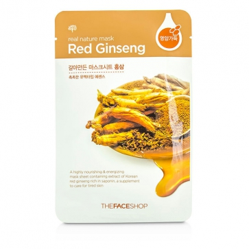 Real Nature Mask - Red Ginseng (Highly Nourishing & Energizing)