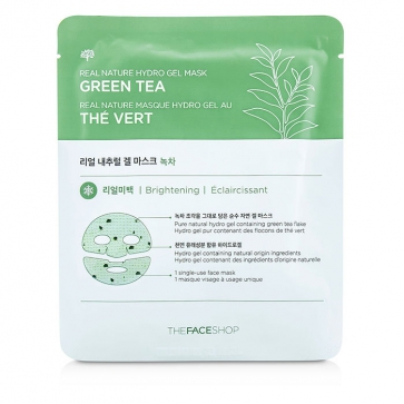 Real Nature Hydro Gel Mask - Green Tea (Brightening)