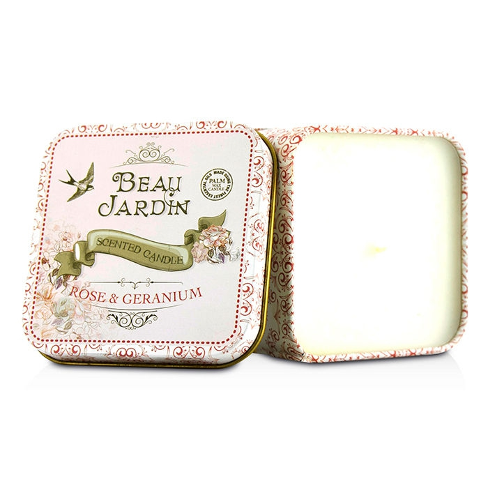 Scented Candle - Beau Jardin Rose & Geranium from Healthcote & Ivory ...