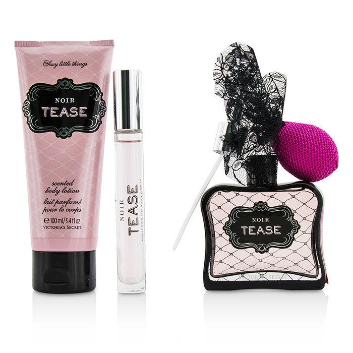 1c0f973cbdb Victoria s Secret Sexy Little Things Noir Tease Coffret  Eau De Parfum Spray  50ml 1.7oz + Body Lotion 100ml 3.4oz + Eau De Parfum Rollerball 7ml 0.23oz  + ...