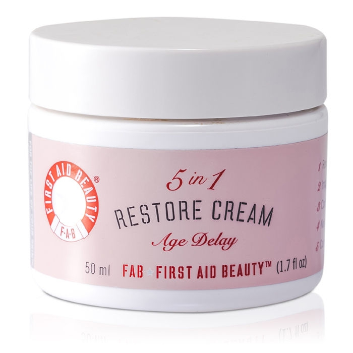 First Aid Beauty - 5 in 1 Restore Cream - 50ml/1.7oz Premium New Blackhead Remover Purifying Acne Peel Off Face Mask Strips Cream Face Cleanser-Gold Collagen
