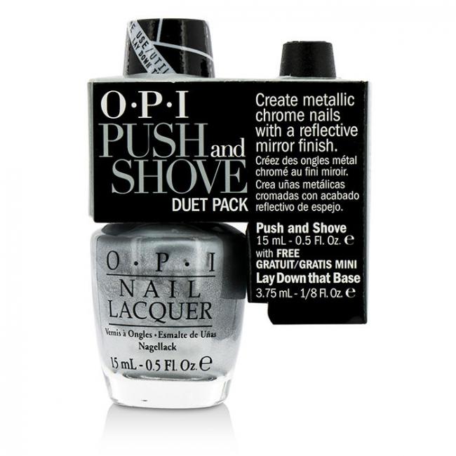 O P I Push And Shove Duet Pack 1x Nail Lacquer 1x Mini